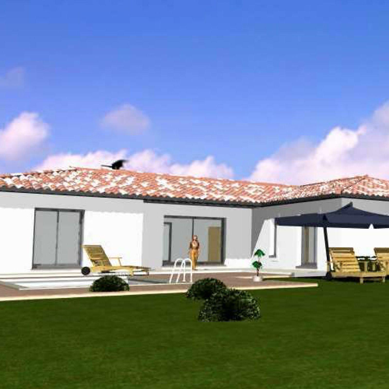 Maison contemporaine de plain pied provence maisons - Plan de maison provencale ...