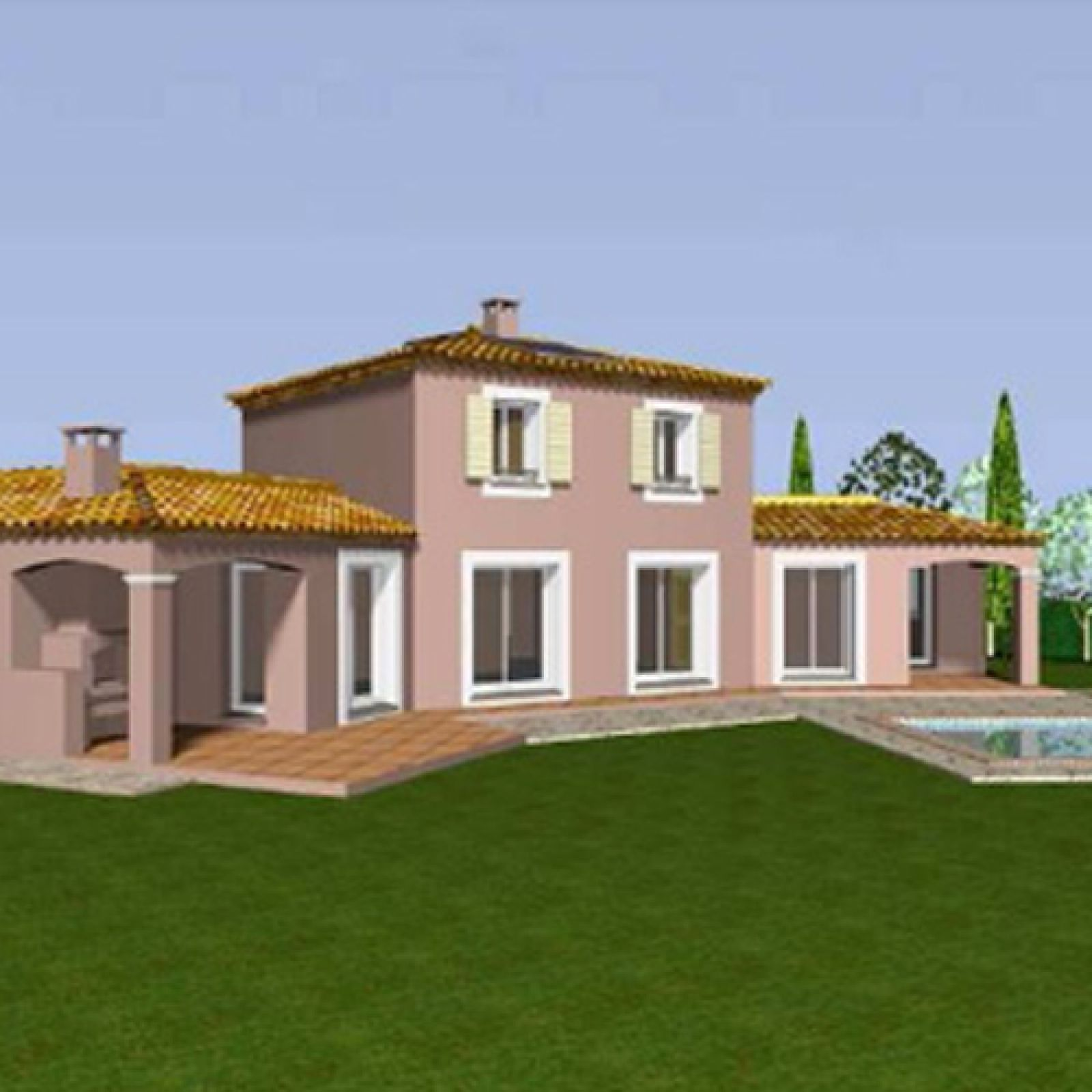 Villa proven ale tage partiel avec 2 ailes tendues for Villa maison plans photos