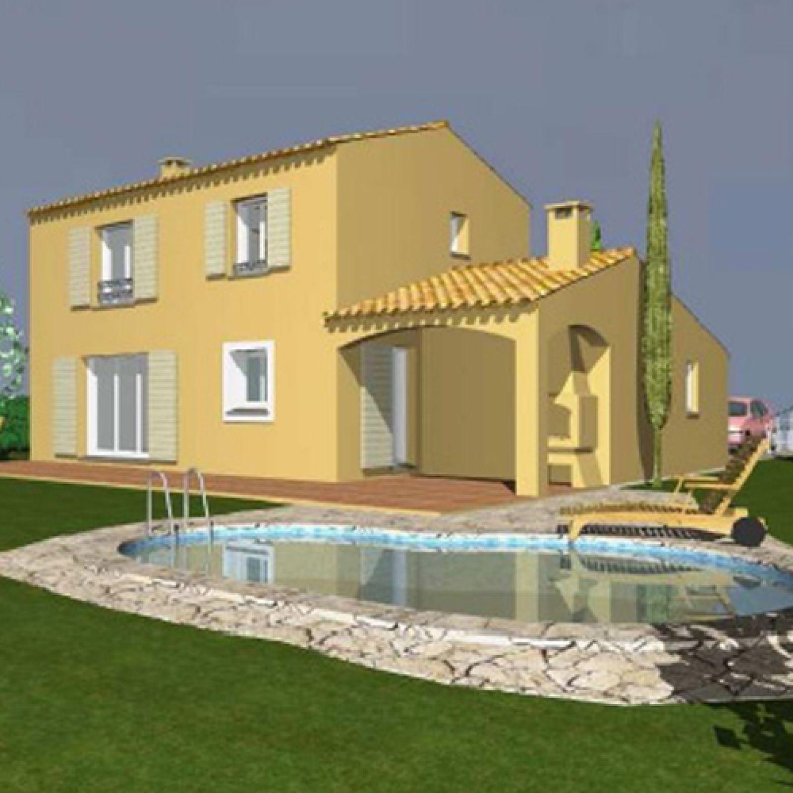 Porche D Entrée Maison Contemporaine bastide contemporaine à etage avec auvent - provence maisons