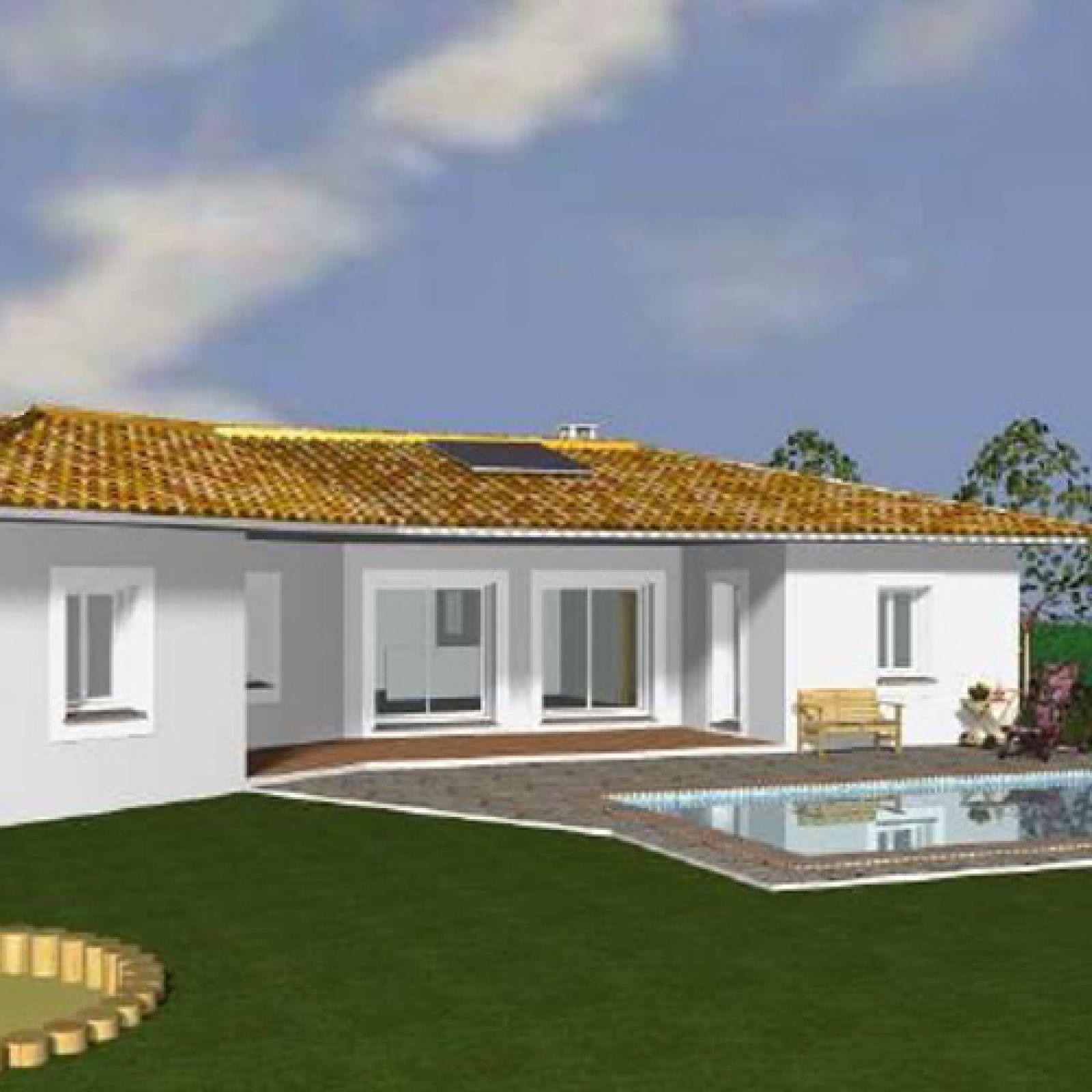grande maison contemporaine de plain pied provence maisons. Black Bedroom Furniture Sets. Home Design Ideas
