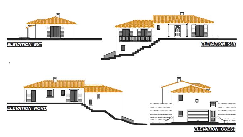 maison proven ale en demi niveaux adapt e son terrain pentu. Black Bedroom Furniture Sets. Home Design Ideas
