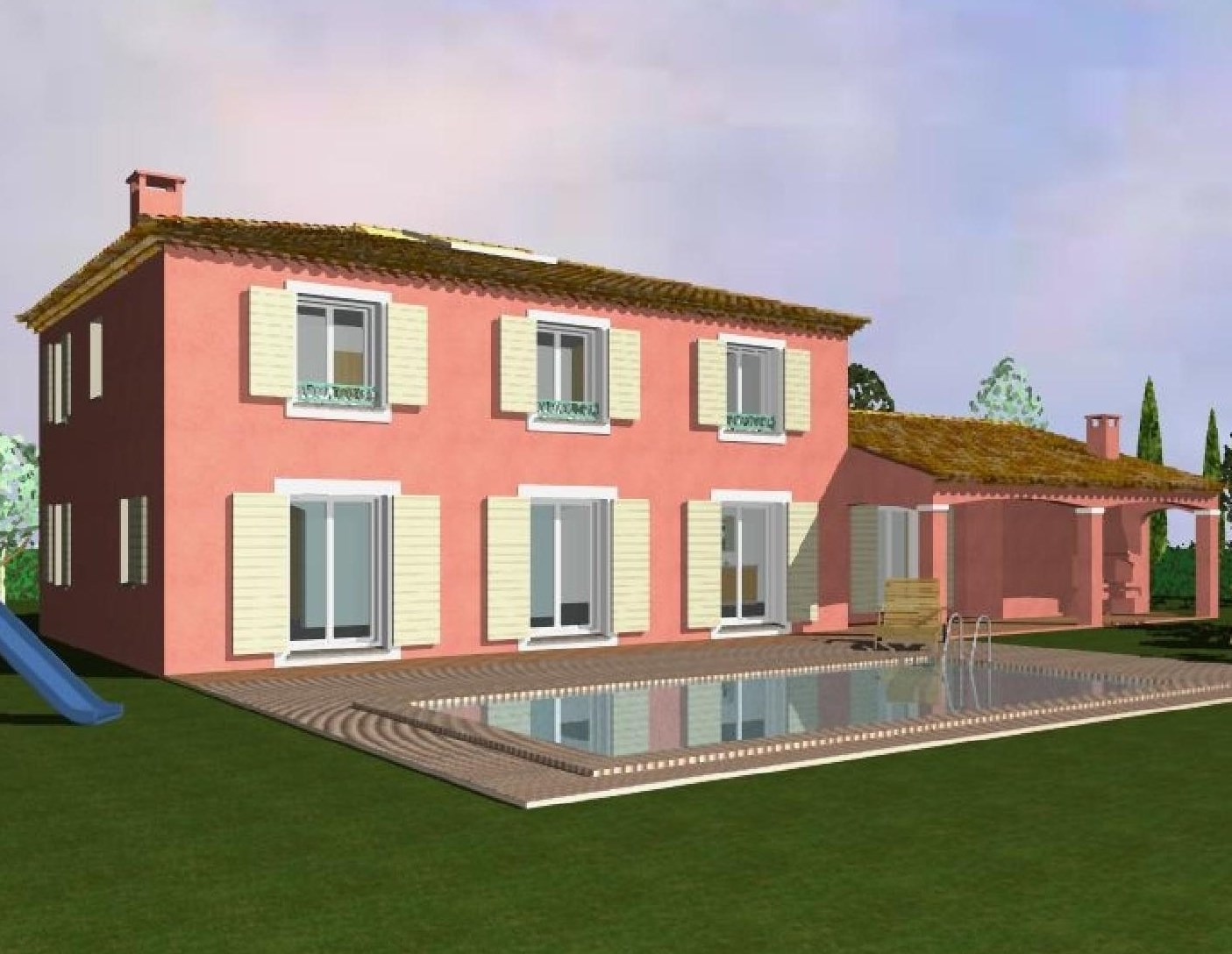 Plan de maison contemporaine aix en provence - Plan maison provencale gratuit ...