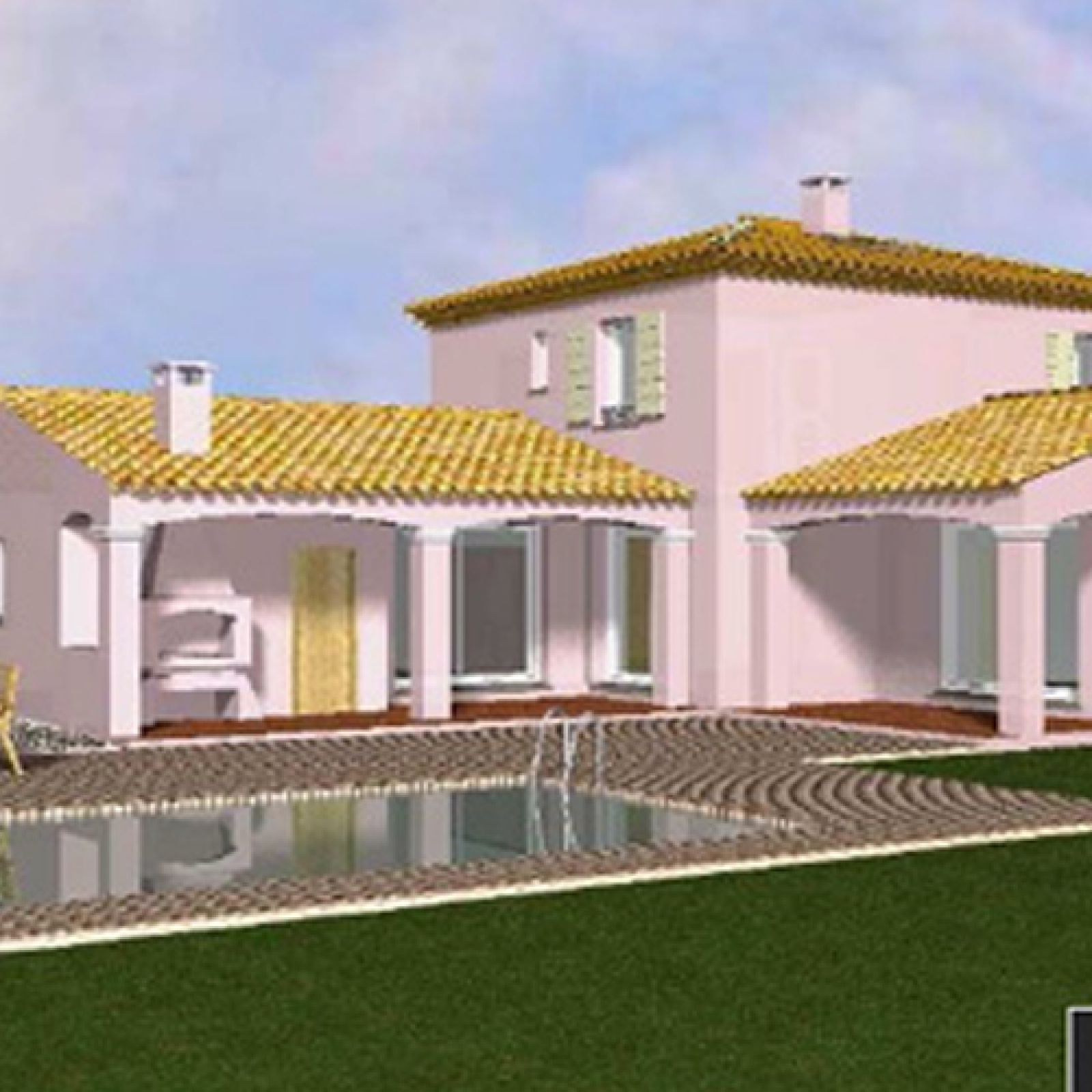 Maison contemporaine en l avec une tour centrale for Maison moderne tours