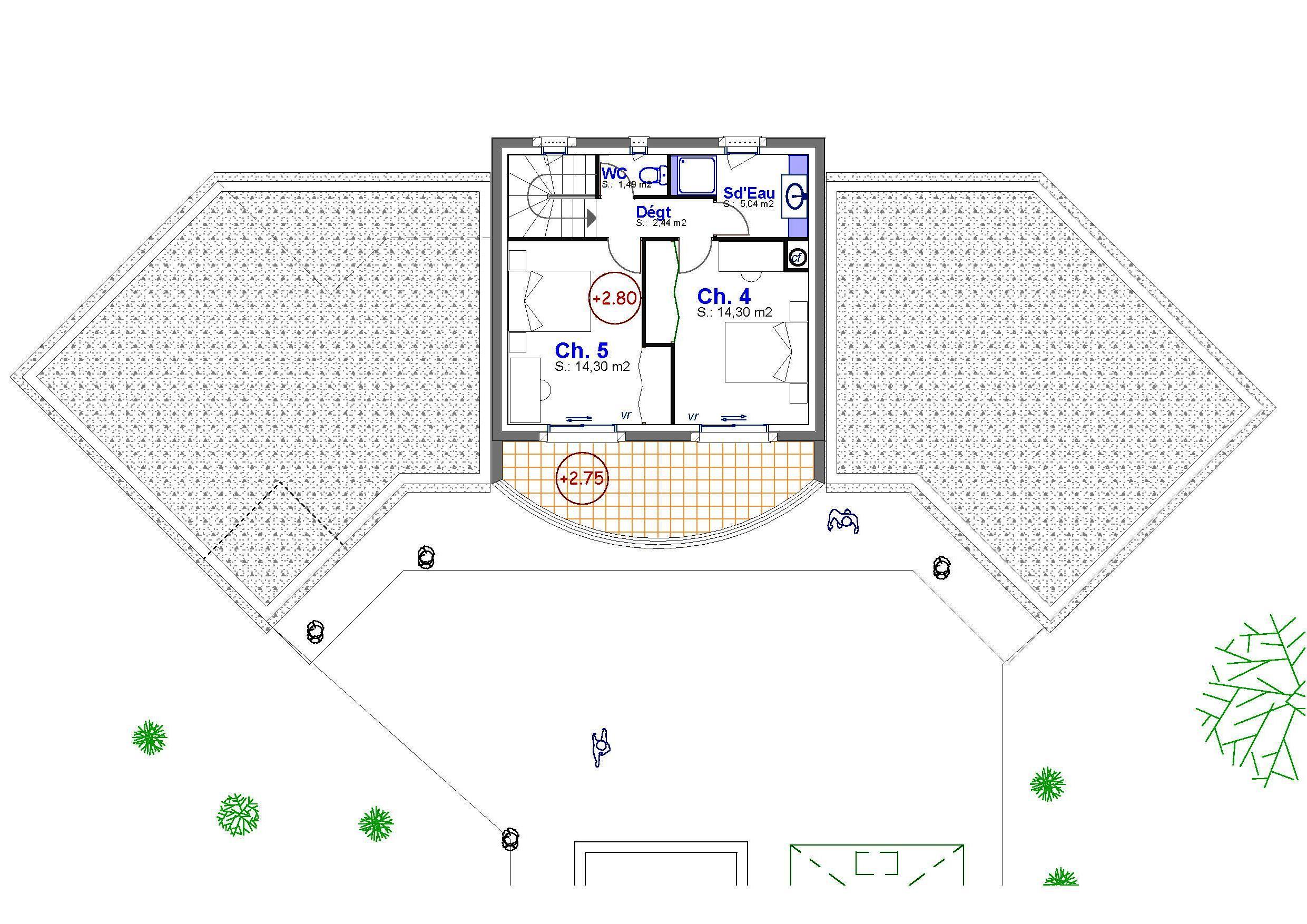 Villa julia for Plan de villa