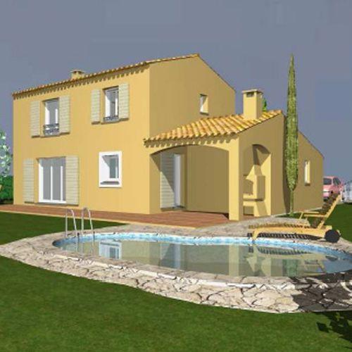bastide contemporaine etage avec auvent provence maisons. Black Bedroom Furniture Sets. Home Design Ideas