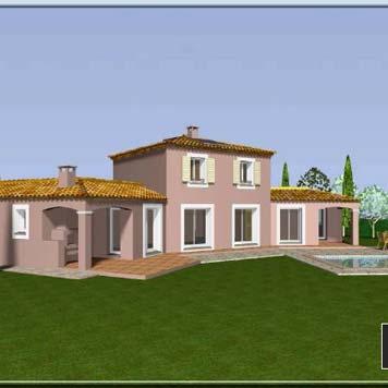 Plan de maison provence construction de maison aix en for Plan maison sud est