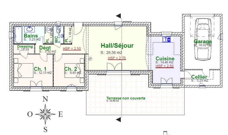 Villa fanny plan de maison provence construction de - Plan de maison provencale ...