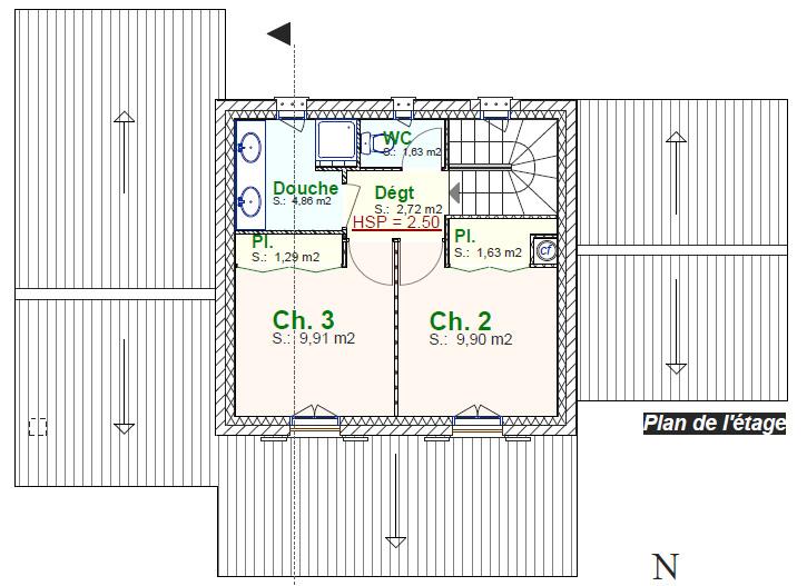 Villa marion plan de maison provence construction de - Plan maison provencale avec etage ...